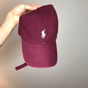 Maroon polo hat